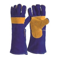 Gauntlet - Blue Welders with Reinforced Palm (Pack of 12)