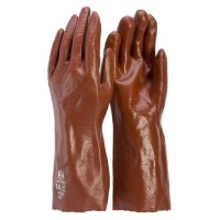 Glove - PVC Red 35cm L (Pack of 12)