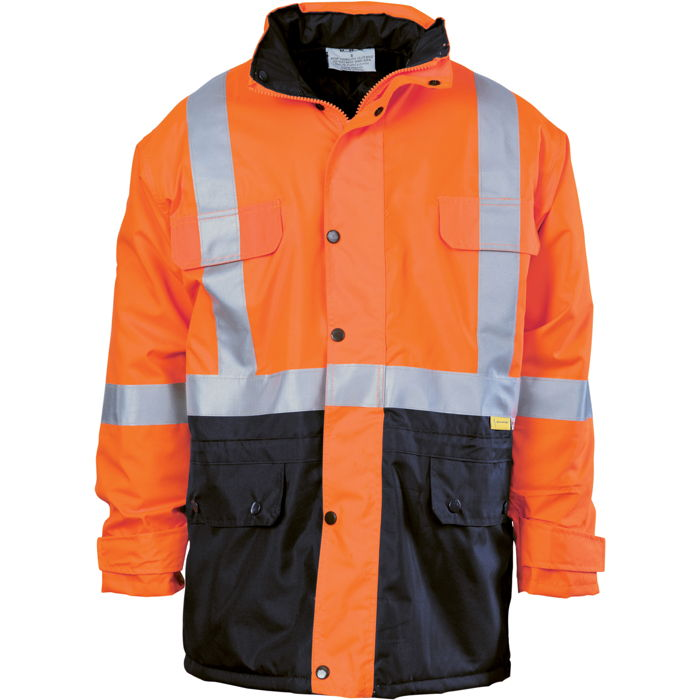 DNC 3863 HiVis Two Tone Quilted Jacket with 3M R/Tape