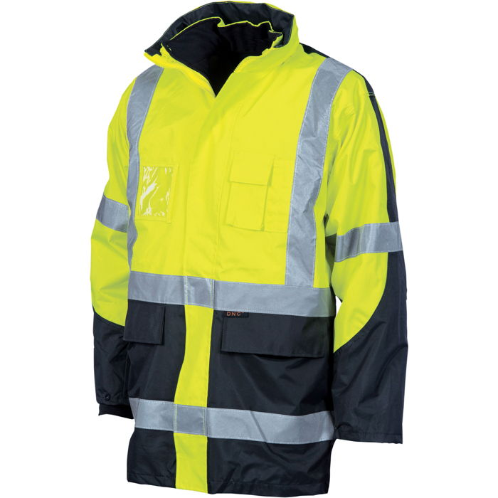 "DNC 3998 HiVis Cross Back 2 Tone D/N ""6 in 1"" Contrast Jacket 1"