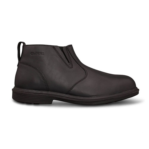 38-265  Black Zip Side Boot