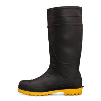 Kings Gumboots: 10-110 Black Safety Gumboot with Penetration Protection