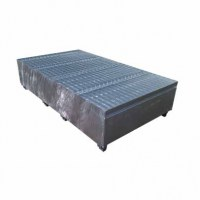 Double IBC Bund - Galvanised Metal