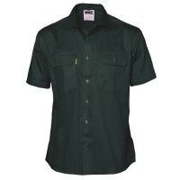 DNC 3201 Cotton Drill Work Shirt - Short Sleeve