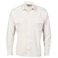 DNC 3214 Epaulette Polyester/Cotton Work Shirt - Long Sleeve