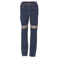 Ladies Taped Denim Stretch Jeans