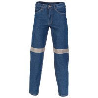 Taped Denim Stretch Jeans