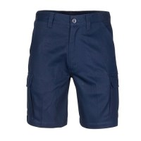 Middle Weight Cotton Double Slant Cargo Shorts