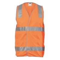 Day/Night Safety Vest with Hoop & Shoulder Tape