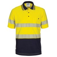 HIVIS Segment Taped Cotton Jersey Polo- Short Sleeve