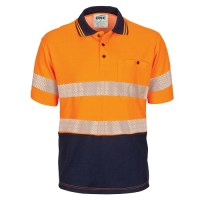 HIVIS Segment Taped Cotton Backed Polo- Short Sleeve