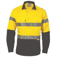 Hi Vis Two Tone Drill Shirt with 3M8906 R/Tape