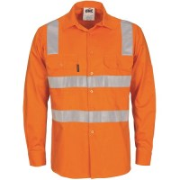 Hi Vis Work Shirt- Hoop & Shoulder R/Tape