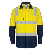 Hi Vis Cotton Shirt- Hoop & Shoulder CSR Reflective Tape