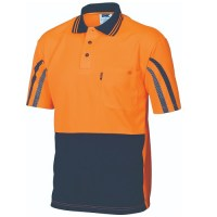 DNC 3752 HiVis Cool-Breathe Printed Stripe Polo - Short Sleeve
