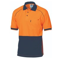DNC 3754 HiVis Cool-Breathe Front Piping Polo - Short Sleeve