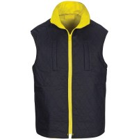 DNC 3765 HiVis Cotton Drill Reversible Vest with Generic R/Tape