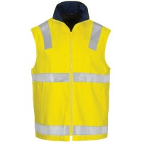 Hi Vis Cotton Drill Reversible Vest- Generic R/Tape