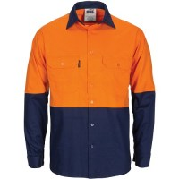 Hi Vis Cotton Work Shirt- Gusset Sleeves