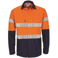 Hi Vis Cotton Work Shirt- Long Sleeve