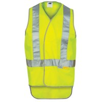 Day/Night Cross Back Safety Vests with Tail