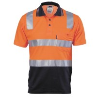 Cotton Back HiVis Two Tone Polo Shirt - Short Sleeve