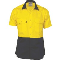 Two Tone Cotton Drill Shirt