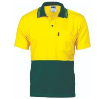 HiVis Cool-Breeze Cotton Jersey Polo Shirt - S/S