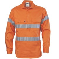Hi VisCotton Drill Shirt with 3M R/Tape