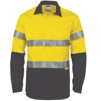 Hi Vis Two Tone Work Shirt with 3M R/Tape