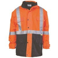 Hi Vis Two Tone Quilted Jacket with 3M R/Tape