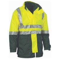 """4 in 1"" HiVis Jacket with Vest and 3M R/Tape"