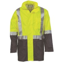 DNC 3879 HiVis Two Tone Light Weight Rain Jacket with 3M R/Tape 1