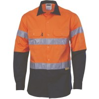 Hi Vis Cool Breeze Cotton Shirt with 3M 8910 R/Tape
