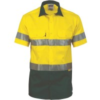 Hi Vis Cool Breeze Cotton Shirt with 3M 8906 R/Tape - Short Sleeve