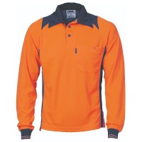 Polo Work Shirt- Long Sleeve- Cool Breathe Action
