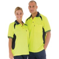 DNC 3901 Cool-Breeze Contrast Mesh Polo - Short Sleeve 2