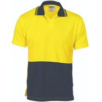 Hi Vis Two Tone Food Industry Polo - Short Sleeve
