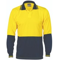 Hi Vis Food Industry Polo- Two Tone- Long Sleeve