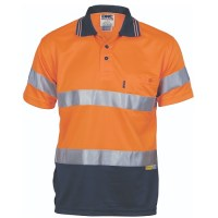 Hi Vis Day / Night Polo Shirt- Long Sleeve