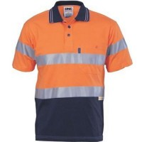 Hivis Cotton Jersey Polo With 3M R/Tape- Short Sleeve