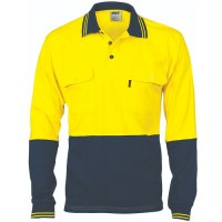 HiVis 2 Tone Cotton Jersey Polo Shirt