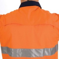 DNC 3947 HiVis 3 Way Cool-Breeze Cotton Shirt with 3M R/Tape - Long Sleeve 1