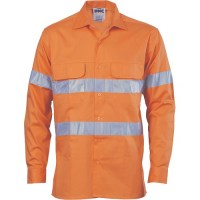 Hi Vis 3 Way Cool-Breeze Cotton Shirt with 3M R/Tape