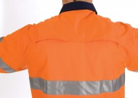 DNC 3947 HiVis 3 Way Cool-Breeze Cotton Shirt with 3M R/Tape - Long Sleeve 2