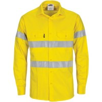 Hi Vis Cool Breeze Cotton Shirt with Generic R/Tape