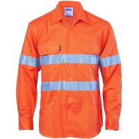 DNC 3985 HiVis Cool-Breeze Vertical Vented Cotton Shirt