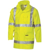 "Hi Vis Rain Jacket-  Cross Back D/N ""2 in 1"""