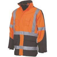 "Hi Vis Contrast Jacket- Cross Back 2 Tone D/N ""6 in 1"""