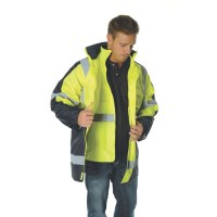 "DNC 3998 HiVis Cross Back 2 Tone D/N ""6 in 1"" Contrast Jacket 3"